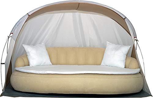 Dekovita Tumbona de jardín hinchable 220x130cm Sofá cama incl. Almohada...