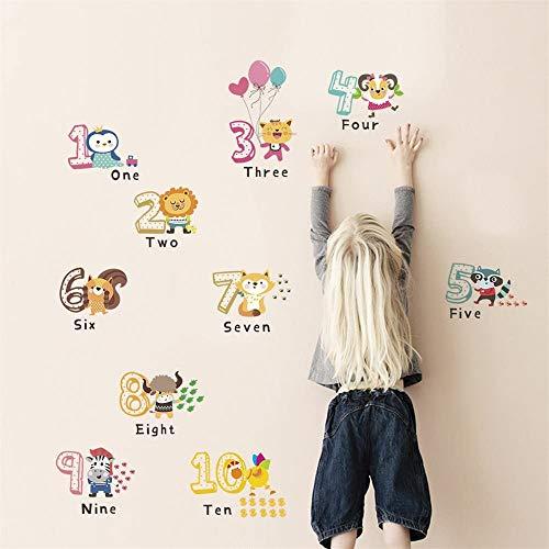 Paelf Niños de Dibujos Animados Lindo educación de la Primera Pared Pegatinas Alfabeto Papel Pintado de la Pared de Vinilo DIY Decals decoración de la habitación,a