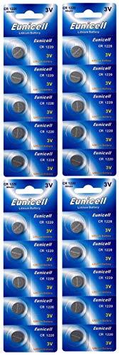 Eunicell CR1220 Set di 20 batterie a bottone a litio 3 V