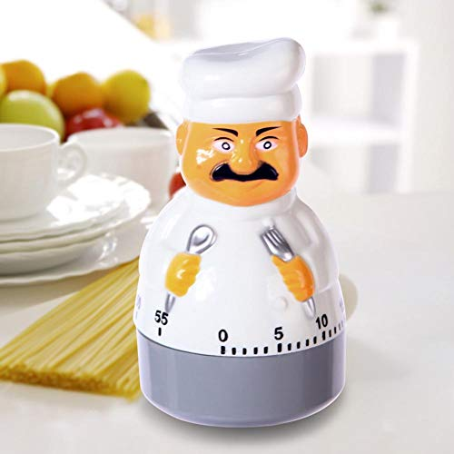 xMxDESiZ Karikatur-Chef-Form-mechanische Küche, die Timer-Backzeit hält, halten Wecker