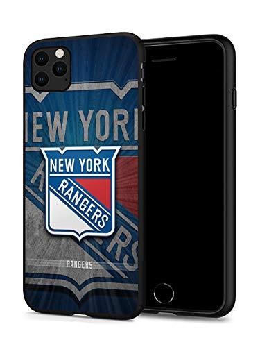 iPhone 11 Pro Hülle, Fashion Hockey Hartplastik & Silikon Gummi Bumper Schutzhülle für iPhone 11 Pro (5,8 Zoll Display) iPhone 11 Pro case Rangers-NYR