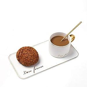 Juego de Tazas de Cafe BaoWnylz Tazas Cafe Originales(Conjunto de 3 piezas), Juegos de Cafe de Porcelana, Juego de Tazas Desayuno, Simple High end,Ideal Para Té, Chocolate Caliente, Moca, Espresso