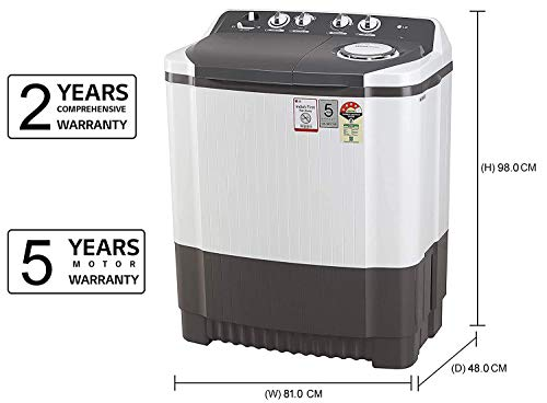 LG 7 Kg 4 Star Semi-Automatic Top Loading Washing Machine (P7020NGAY, Dark Gray, Collar scrubber) 2