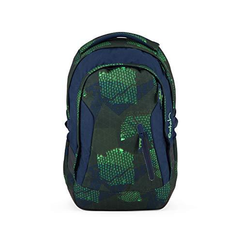 Satch sleek Schulrucksack - ergonomisch, 24 Liter, extra schlank - Infra Green - Grün