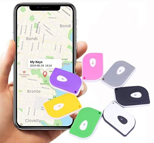 Key Finder, Mini-Bluetooth-Tracker-Geräte, Anti-verloren Chip, GPS-Fernbedienungen, Item Finder Smart-Tracker, Phone Locator, Pet Tracker. (Farbe : Blau, Größe : 6 Pcs)