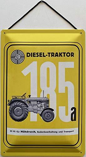 Blechschild Con cordón 30 x 20 cm Steyr Diesel Tractor 185a con 55 CV para cortacésped - Blechemma