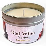 Chandelita Candela Profumata al Vino Rosso Merlot con Cera di Soia Naturale...