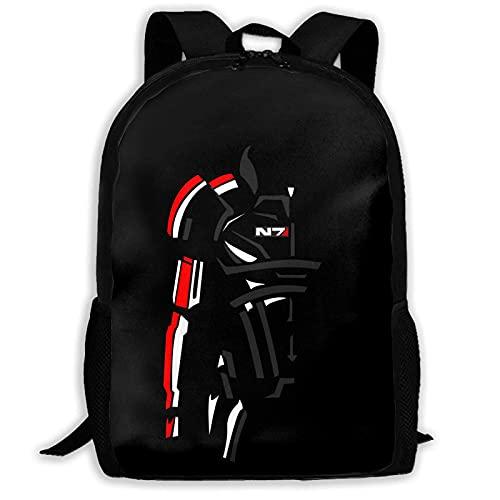 TammyBPeter Backpack Rucksack Hochleistungs-Unisex-Rucksack für Erwachsene Mass-Effect N7 Bookbag Reisetasche Schultaschen Laptoptasche Es bietet Platz für 15-Zoll-Laptops...