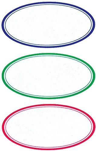 AVERY Zweckform 3742 Marmeladen Etiketten, selbstklebend (wiederablösbare Haushaltsetiketten, 35x70 mm, 9 ovale Aufkleber auf 3 Bogen) bunt
