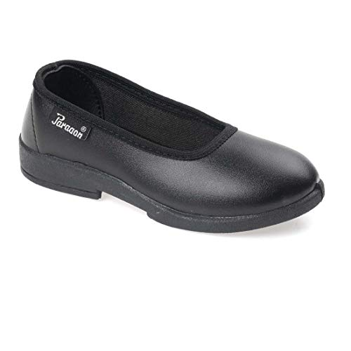 PARAGON Girl's Black School Shoes-10 Kids UK (28 EU) (A1PV0022RPBLK00010G178)