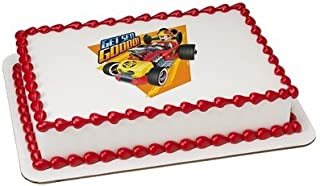 1/4 Sheet -Mickey Mouse Roadster Racers - Edible Cake/Cupcake Party Topper!!!