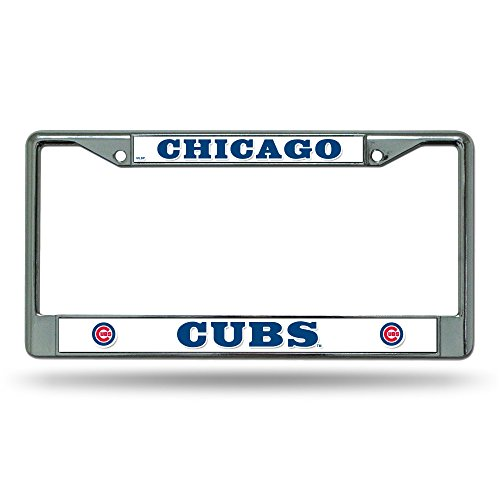 Rico Industries FC5302 MLB Chicago Cubs Chrome License Plate Frame
