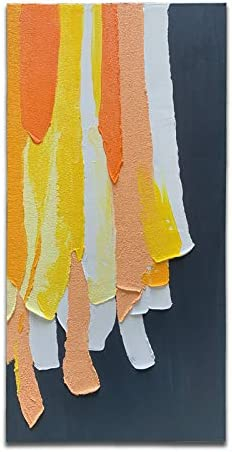 Yika Art 3D Oil Painting Geometric Color Block Irregular Acrylic Painting Modern Simple Wall product image