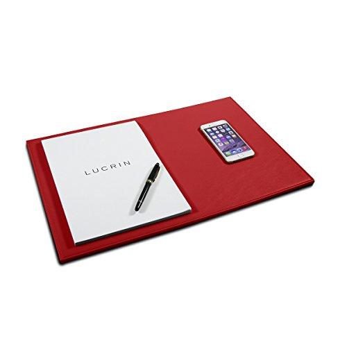 Lucrin - Vade rígido 50 x 34 cm - Rojo - Cuero Liso