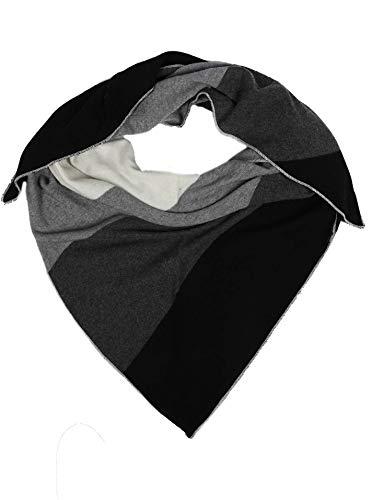 Cashmere Dreams Dreieckstuch mit Kaschmir - Hochwertiger Schal mit Streifen für Damen Jungen und Mädchen - XXL Hals-Tuch und Damenschal - Strick-Waren für Sommer und Winter Zwillingsherz - ant