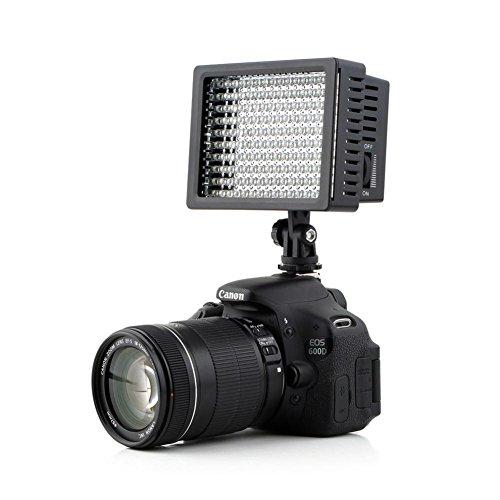 Lightdow LD-160 Ultra High Power Dimmable 160 LED Bulb Video Light for Canon Nikon Sony DSLR Camera