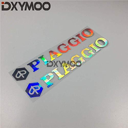 WYJW 2 STKS Auto Styling Sticker Motorhelm Sticker Stickers voor Piaggio 200x30 mm, B lasercar sticker