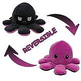 Oktopus Plüsch Wenden Kuscheltier Groß Kinderspielzeug Geschenk Plüschtiere Niedlich Kleine Oktopus Toy Doppelseitiges Flip-Plüschtier Wendepuppe für Kinder Freundin