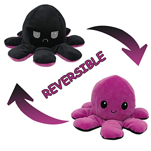 Oktopus Plüschtier Spielzeug Niedliche Doppelseitige Flip sicheres und ungiftiges Plüsch Spielzeug Kuscheltierpuppe weiches Stofftier für Kinder, Mädchen, Jungen