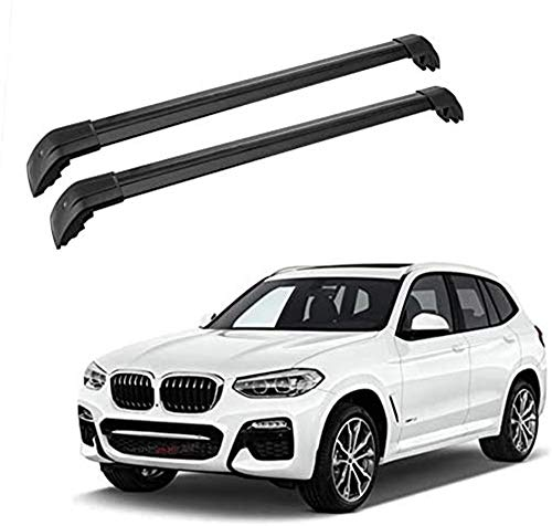 MotorFansClub Cross Bar Fit for Compatible with BMW X3 F25 2011-2018 Roof Rack Crossbars Baggage Luggage Rack