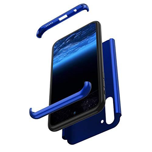 Surakey für Huawei Y7 2019 Hülle,360 Grad Hülle Full Cover Panzerglas 3 in 1 PC Hardcase Hart Hülle Full Body Case Cover Schutzhülle Hybrid Handyhülle kompatibel mit Huawei Y7 2019,Blau