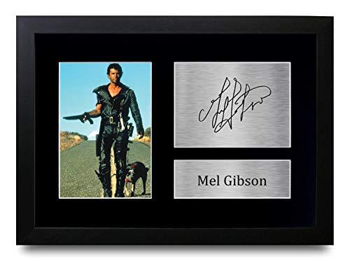 HWC Trading Mel Gibson A4 Gerahmte Signiert Gedruckt Autogramme Bild Druck-Fotoanzeige Geschenk Für Mad Max Filmfans