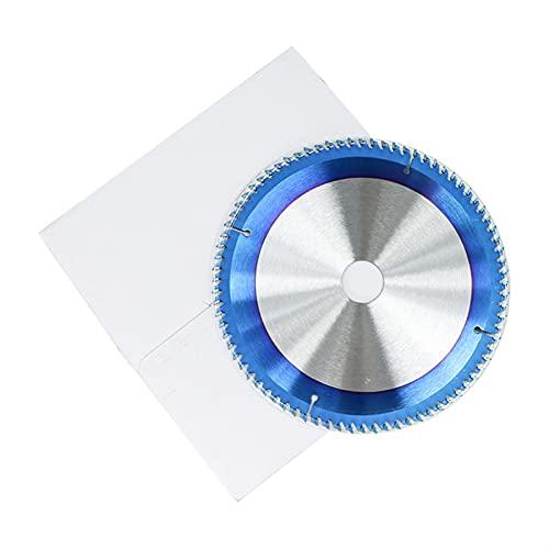 Wnuanjun Hartmetall-Holzschneidscheibe 210 250 255 300mm Kreissägeblatt Nano blau beschichtet TCT-Sägeblatt 24T 28T 40T 80T-Sägeblatt (Größe : 1pc 250x30x80T)