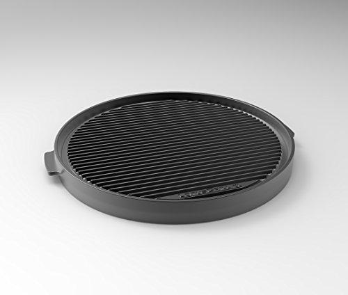 LotusGrill Plancha de parrilla eppanyaki XL – especialmente diseñada para la barbacoa de carbón vegetal con baja emisión de humo.