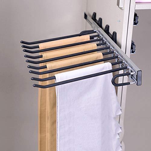 GSKB Pantalonero Extraíble Pantalones Estante Montaje Lateral Izquierda/Derecho Tamaño 460mm× 375mm× 85mm para Armario De 470mm De Profundidad 1 Piezas