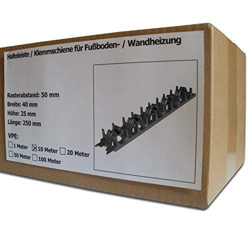 10 Meter SANPRO Halteleiste/Klemmschiene für Fußbodenheizung und Wandheizung