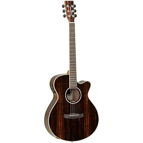 Tanglewood: Discovery Deluxe Super Folk Electro Acoustic Guitar - Figured Ebony. Electro-Acoustic...