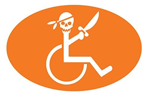 【全16色】車椅子マーク/車イス サイン/カー ステッカー/Car/スカル/ドクロ/車用/シール/ Vinyl/Decal /バイナル/デカール/-3A (オレンジ) [並行輸入品]