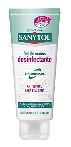 Sanytol - Gel de Manos Desinfectante Hidroalcohólico, Sin Enjuague, Hipoalergénico - Tubo de 75 ml
