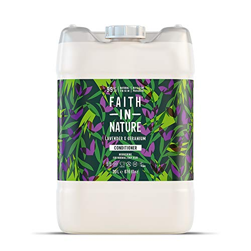 Faith in Nature Natural Lavender and Geranium Conditioner, Nourishing, Vegan and Cruelty Free, Parabens And Sls Free, For Normal To Dry Hair, 20 L Refill Pack