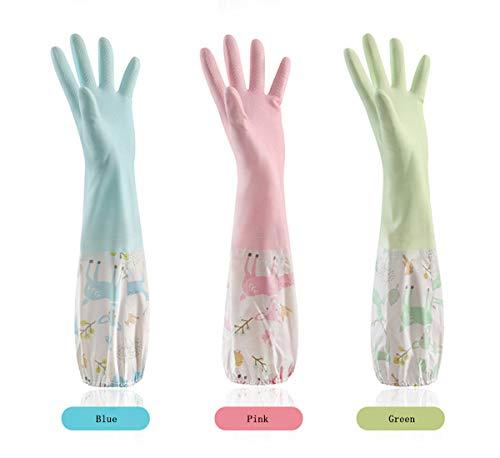 Geschirrhandschuhe 3 Paare Handschuhe Küche rutschfeste Lange Gummihandschuhe Silikon Spülhandschuhe Handschuhe für Haushalt, Küche, Bad, Auto