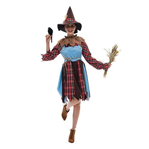 EraSpooky Disfraz de señora espantapájaros para Mujer Traje de Halloween para Adultos