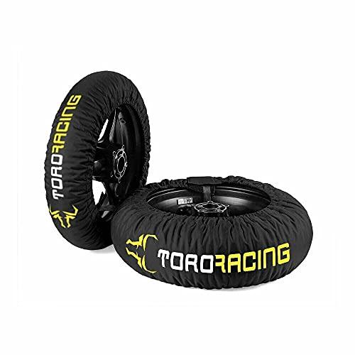 Calentadores de neumáticos DRURY (120-190) - 17' - Negro/Flúor - Tyre Warmes - Supermotard - Superbike