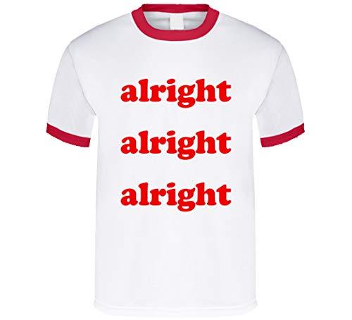 Muy bien bien bien divertido estilo vintage gráfico camiseta rojo anillo
