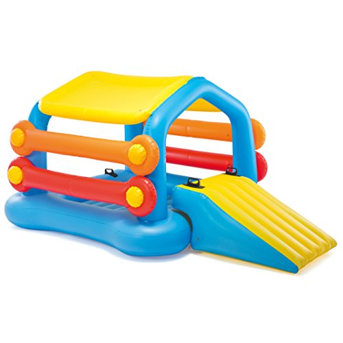 Intex Cabin Island with Slide & Removable Sides, Inflatable Play Center, 110' X 68' X 48', for Ages...