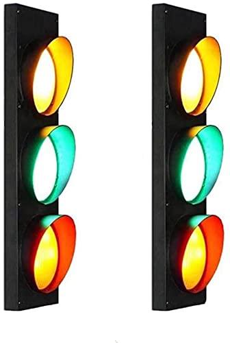 MWKL Lámpara de Pared de semáforo con Interruptor de Advertencia Luces de Pared LED Industria Retro Bar Restaurante Señal de tráfico Apliques de Pared con Interruptor de Control Remoto Club