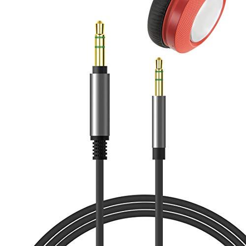 Geekria QuickFit Audio Cable de repuesto para auriculares JBL E45BT E50BT E55BT E35 E40 E40BT, JBL E65BTNC, Tune 600BTNC, macho de 2,5 mm a 3,5 mm, funciona con 3,5 mm dispositivos (negro,1.7M)