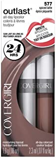 CoverGirl Outlast Lipcolor - Spiced Latte 577 (Pack of 2)