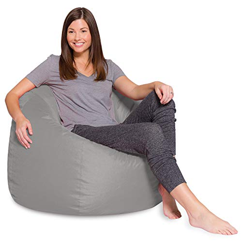 Posh Beanbags Bean Bag Chair, X-Large-48in, Solid Gray