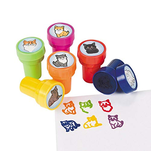 Fun Express 24 Cat Stampers - Stationery & Stamps