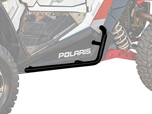 SuperATV Heavy Duty Nerf Bars/Rock Sliders/Tree Kickers for Polaris RZR XP 1000 / S 1000 (2014+) - Wrinkle Black
