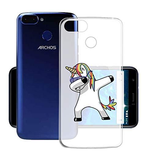 HHUAN Hülle für Archos Core 60s Semi-Transparent Hülle Dünn Weiche Silikon Cooles Pony Stoßfest Handyhülle Tasche Schale Bumper TPU Schutzhülle Cover für Archos Core 60s (6.0