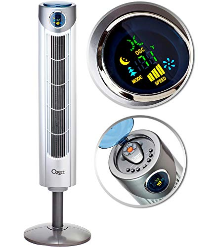 Ozeri Ultra 42 inch Wind Fan - Adjustable Oscillating Tower Fan with Noise Reduction Technology by Ozeri