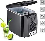 RENXR Nevera Portátil Refrigerador del Coche Congelador (6L) Coche, Camp, Oficina, Viajes Enfriador De Bebidas Eléctrica para Interior, Exterior, Uso Viajar Cuidado De La Piel Y Cosméticos,Negro