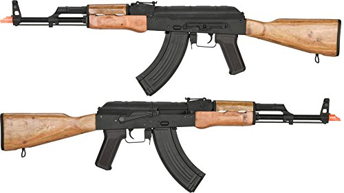 Evike Airsoft - CYMA Standard AKM Airsoft AEG Rifle with Real Wood Furniture (Package: Gun Only)