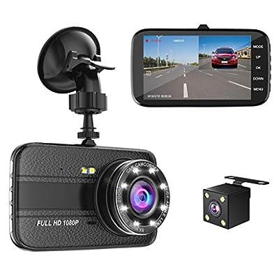 XIANWEI Car Driving Recorder,Parking Monitor,Double Lens Sprint Camera,4-inch HD Screen from XIANWEI